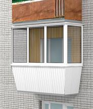 Остекление балкона свыносом плпстиком.