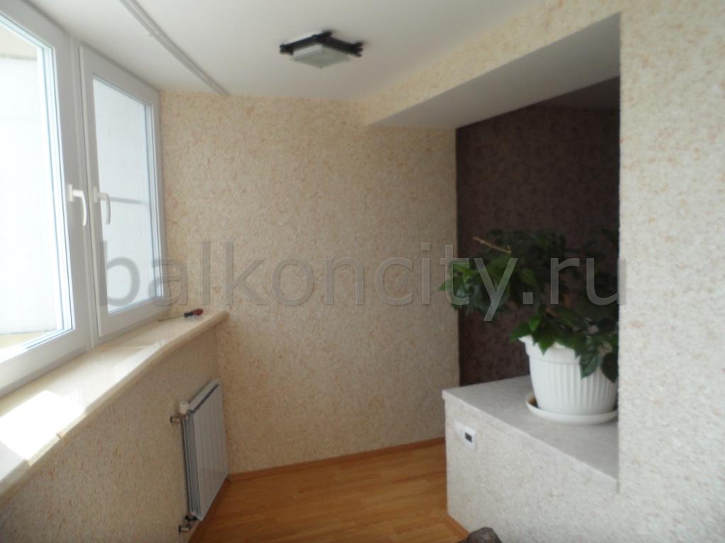 Внутренняя отделка - балкон-сити, екатеринбург.